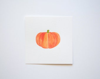 Mini Pumpkin (original watercolor painting)