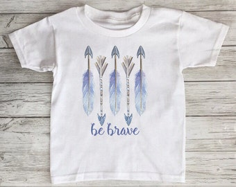 Be Brave Feather Toddler/Baby Tshirt