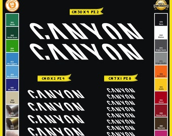 CANYON sticker Bike Frame decal cycle bicycle MTB BMX pegatina llanta adhesivo vinilo sticker Aufkleber Autocollant restoration C0090