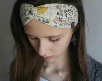Headband, Womens headband, Teen headband, Fabric headband, Interlocking headband.