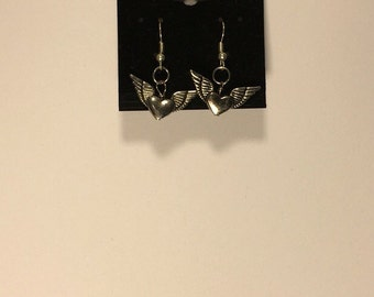 Winged Heart Earrings