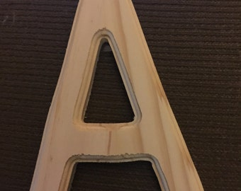 "Wood letter 5"" tall unpainted  "" A"""