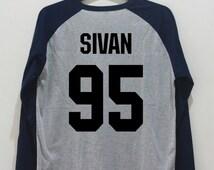 Sivan 95 Shirt Troye Sivan Shirt Gray TShirt Unisex Hipster T-Shirt Youtuber Shirts Baseball Raglan Jersey Tee Navy Long Sleeve Women Men
