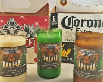 Beer Bottle Candles - Without Pedestal