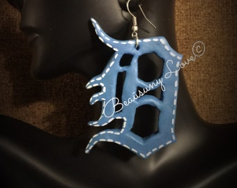 "Unique  ""Detroit"" Earrings (Hand Sculpted Clay and painted) by Beaūsuny Love©"