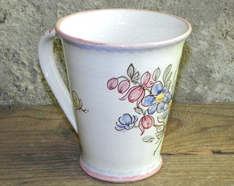Ceramic Cup with flower decoration