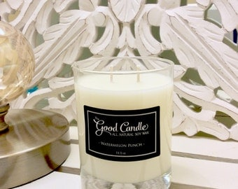 Watermelon Punch - Double Wick Soy Wax Candle