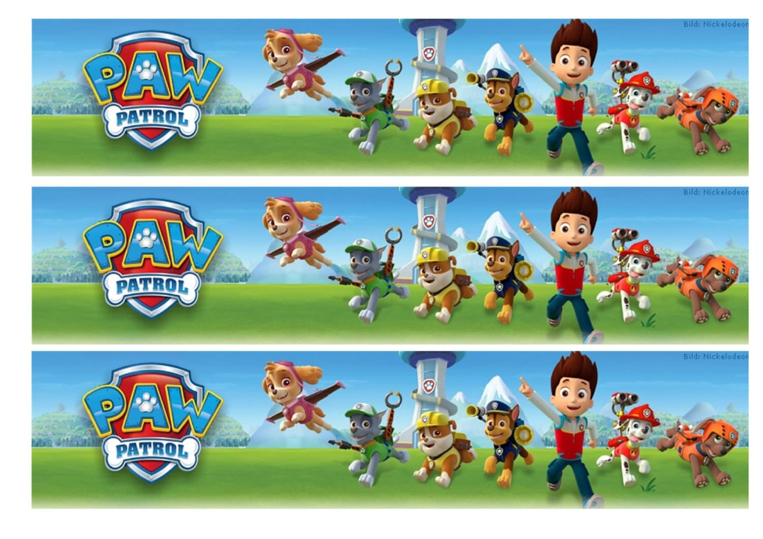 It's just a picture of Soft Paw Patrol Borders
