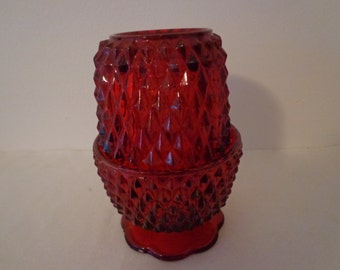 Vintage Red Fairy Tealight Candle Holder