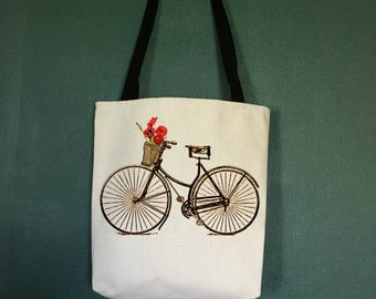 Tote Bags With Bicycle, Gifts for Bike Lovers, Bike Bags