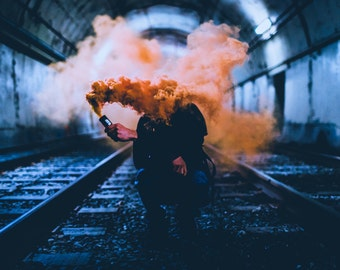 Smoke Bomb in Train Station