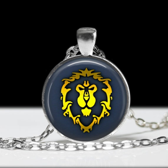 world of warcraft alliance necklace gamer by
