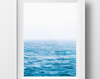 Ocean Photo, Sea Photo, Water Photo, Beach Photo, Nautical Print, Ocean Print, Ocean Photography, Blue Ocean Print, Ocean Art, Printable Art