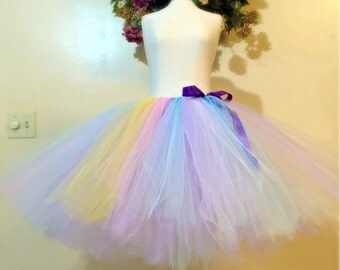 Lavender pastel rainbow tutu. Adult tutu skirt. Photo props tutu