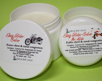 Easy Rider Decongestant Salve--Discounted for the Holiday Season!
