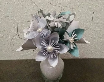Paper Flowers - Kusudama Origami Flower Arrangement - Birthday Gift - Made to Order - Wedding Decor - Wedding Bouquets - Thank You Gift