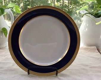 Lenox Cobalt Blue Luncheon Plate For Bailey Banks and Biddle,Philadelphia