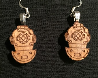 Lasercut Scuba Diver Earrings