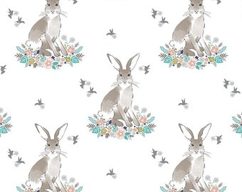 CUSTOM BEDDING - Cotton tail in spring baby crib bedding , crib bedding, bunny, rabbit, gender neutral, nursery