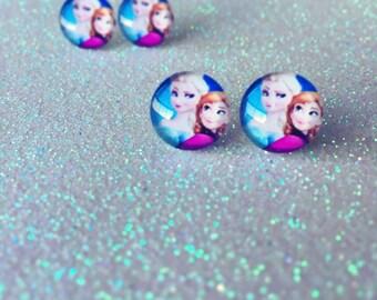 Frozen Earrings - Elsa and Anna Earrings - Elsa Earrings - Anna Earrings - Disney Earrings