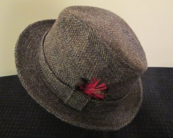 Men's Fedora Tweed Hat by Kangol Design. Made in the USA!