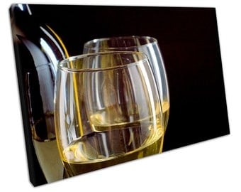 Close Up of White WINE Canvas WALL ART C2172