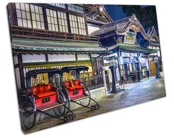 Dogo Onsen of Matsuyama, JAPAN Canvas WALL ART C2315