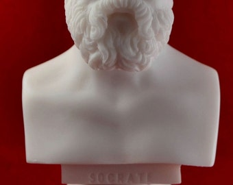 Socrates Bust greek statue White NEW