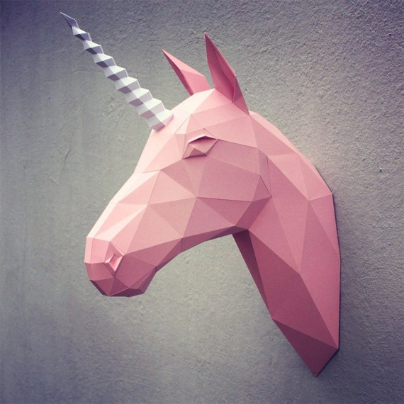 papercraft unicorn head printable diy template 9 pages shopswell