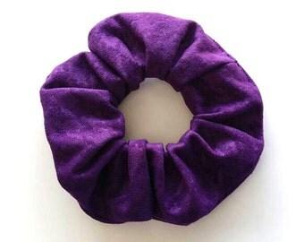 Scrunchie, hair tie, scrunchies - purple suede houndstooth