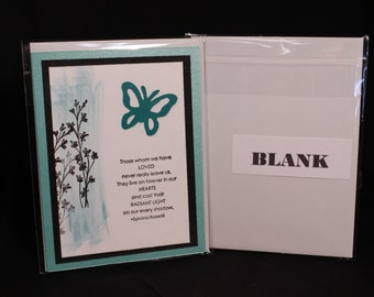 Handmade Sympathy Card with Envelope