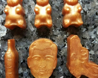 Archer Soap / Soap Gift Set / Stocking Stuffer / Gift for Him / Gift for Her / Party Favor / Geeky Soap Set of 6