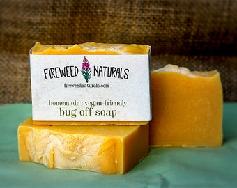 Bug Off Soap Bar - Vegan Friendly, All Natural, Cold Process