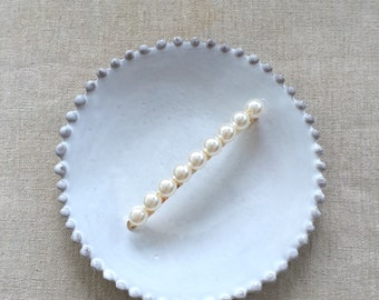 Hand-wired Pearl Hair Clip