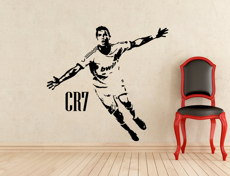 Cristiano ronaldo wall vinyl decal biggest real size for Cristiano ronaldo wall mural
