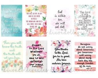 bible scripture planner stickers - HAPPY PLANNER stickers - bible journaling - scripture planner stickers - bible verse stickers - SET B