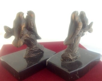 Bookends Artdeco birds