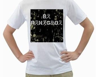 Be Renegade - Tokyo Fashion Hiragana x English Two Sided T-Shirt