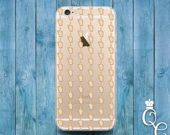 iPhone 4 4s 5 5s 5c SE 6 6s 7 plus iPod Touch 4th 5th 6th Gen Funny Cool Clear Cover Middle Finger Emoji Life Fun Girl Boy Cute Phone Case +