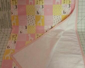 Baby Girl's Custom Receiving Blanket Flannel