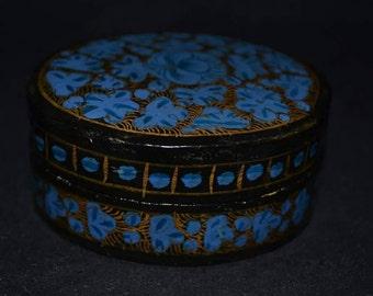 Oval papier mache box