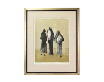 "Haunting Image of ""Three Women"" Jean Leon Jansem Limited Edition Lithograph"