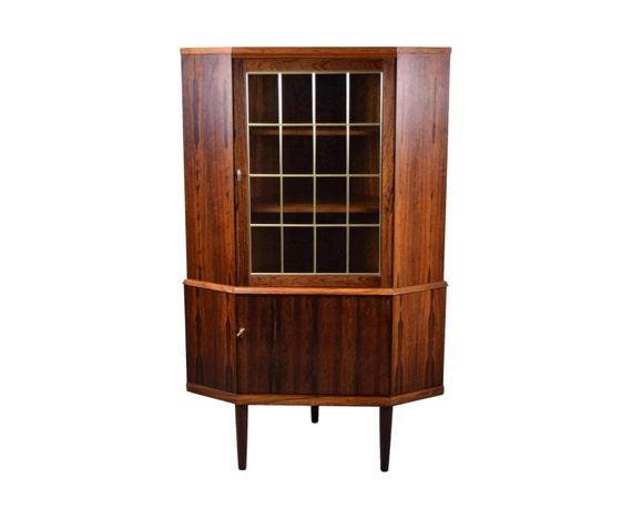 Mid Century Corner Cabinet: Mid Century Danish Modern Rosewood Corner By