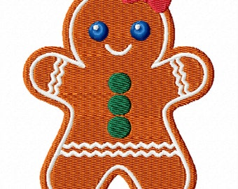 Gingerbread Girl 2 -A Machine Embroidery Design for Christmas