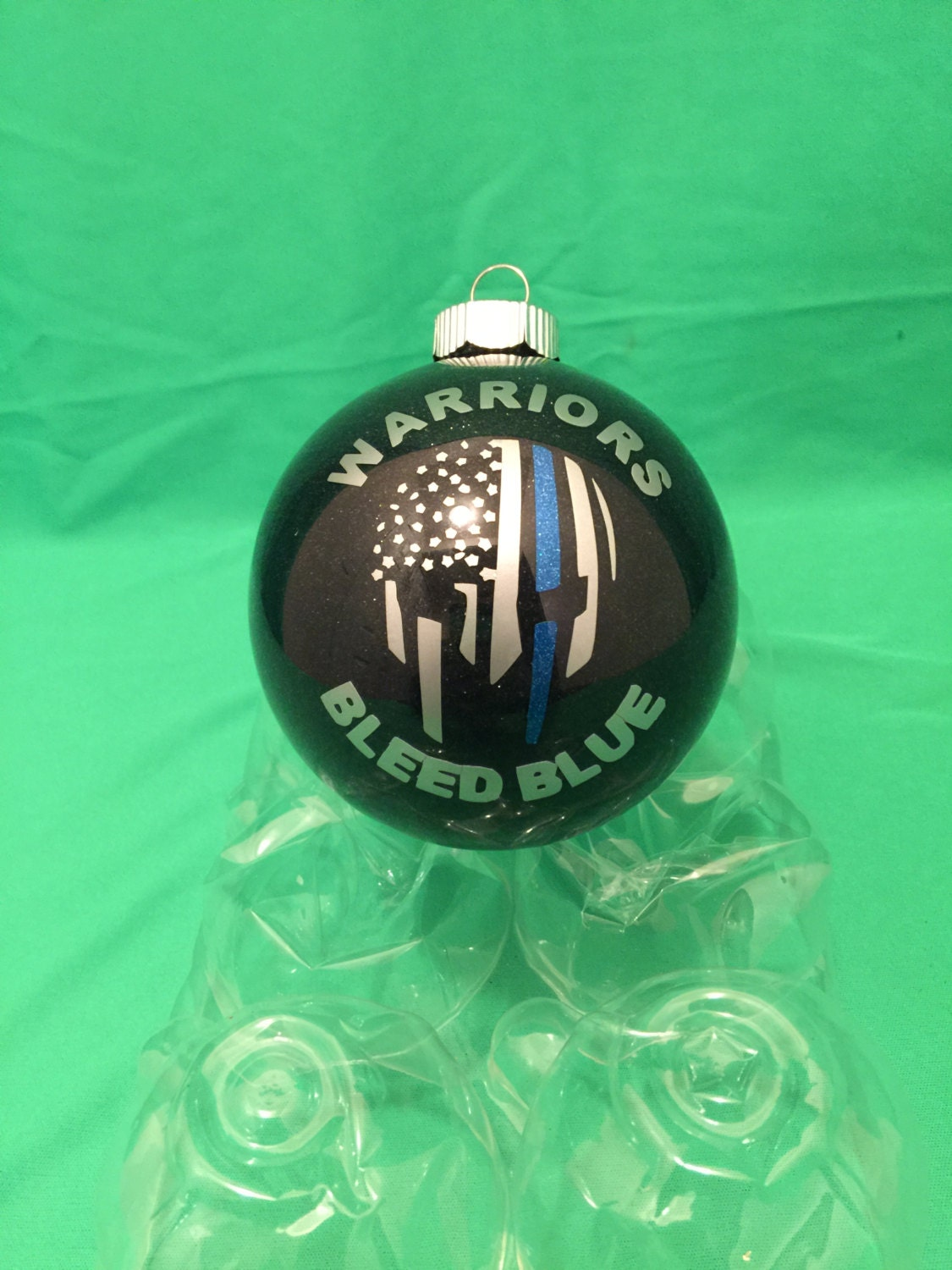 Thin Blue Line Ornament Warriors Bleed Blue Ornament Police