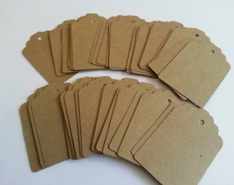 Kraft tags, Blank tags, Favor tags, Gift tags, Scrapbooking tags, Price tags, Set of 40