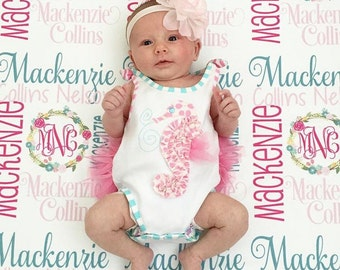 Personalized Baby Blanket - Monogram Baby Blanket - Swaddle Receiving Blanket - Baby Shower Gift - Custom Blanket