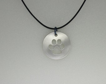 Dog Paw Pendant - Sterling Silver & Handmade