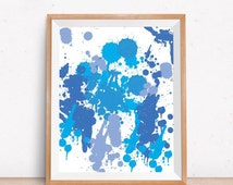 Blue Wall Art, Abstract Art Print, Instant Download Printable Art, Abstract Print, Blue Print, Modern Wall Art, Abstract Poster