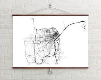 Map of San Francisco, San Francisco, San Francisco art, San Francisco map, San Francisco print, San Francisco Decor, San Francisco Gift, Map